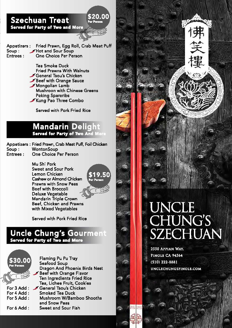 togo menu uncle chung restaurant